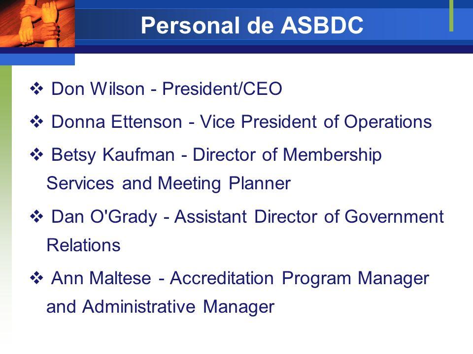 Personal de ASBDC Don Wilson - President/CEO