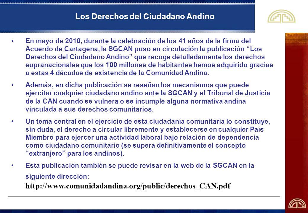 Los Derechos del Ciudadano Andino