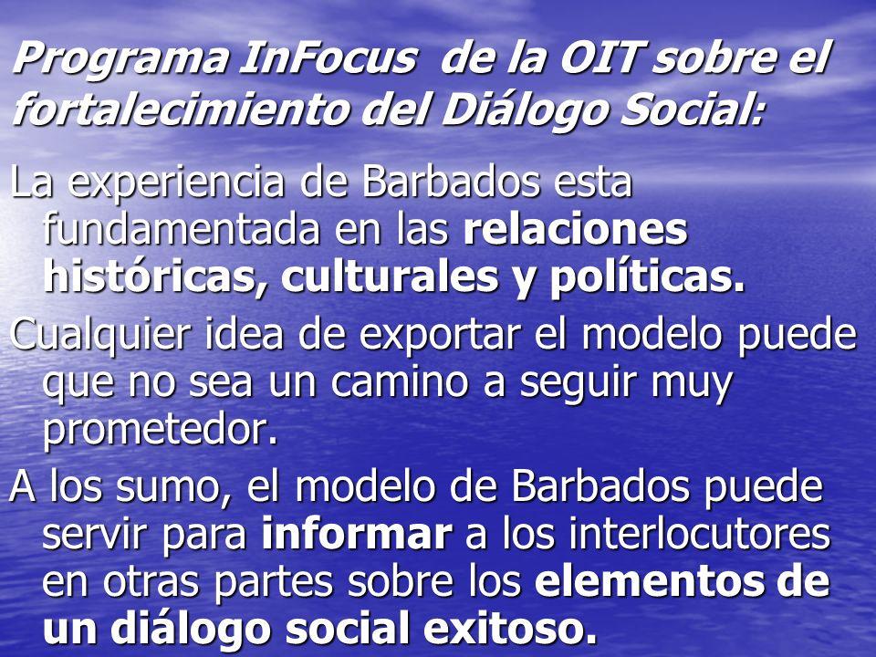 Programa InFocus de la OIT sobre el fortalecimiento del Diálogo Social: