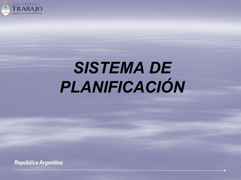 SISTEMA DE PLANIFICACIÓN