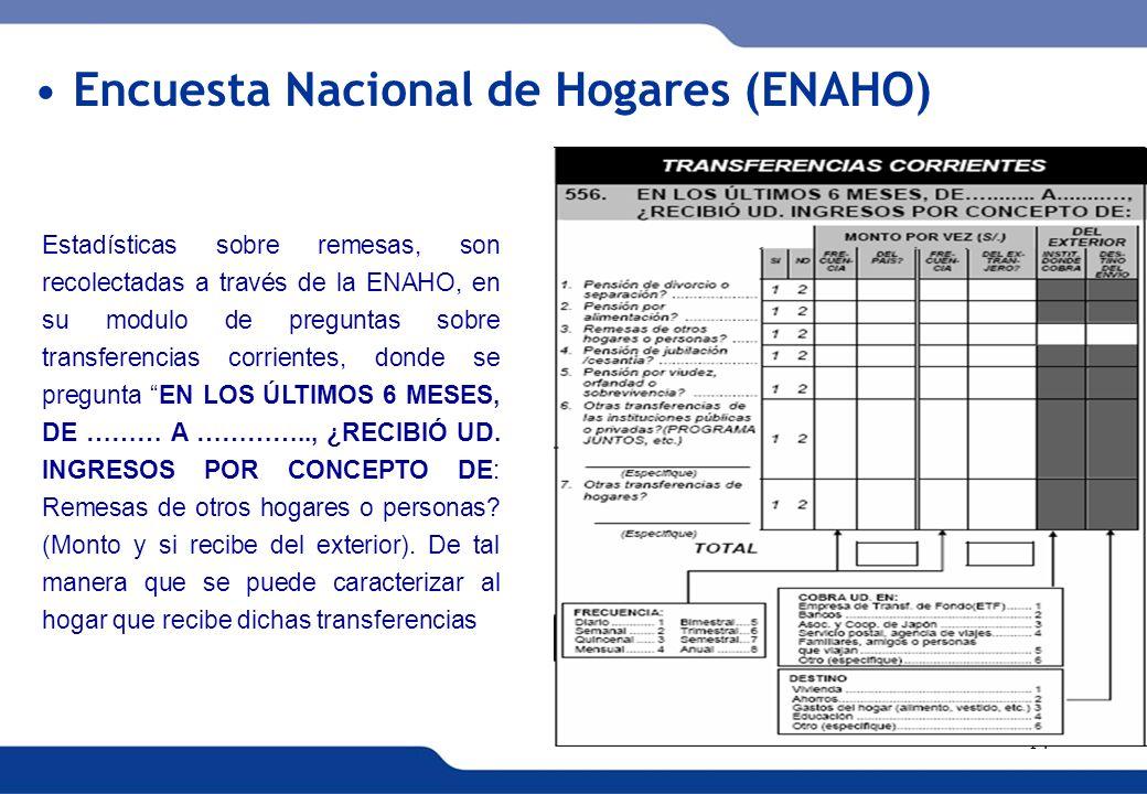Encuesta Nacional de Hogares (ENAHO)