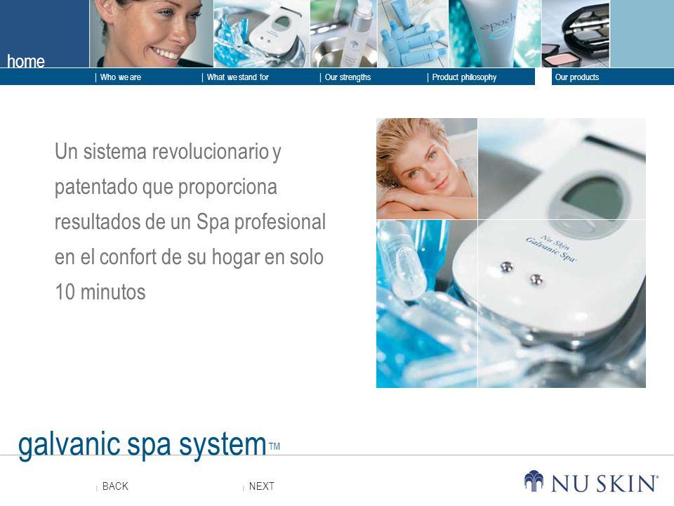 Un sistema revolucionario y patentado que proporciona resultados de un Spa profesional en el confort de su hogar en solo 10 minutos