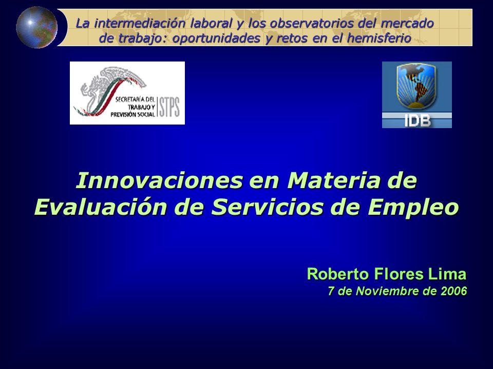 Innovaciones en Materia de Evaluación de Servicios de Empleo