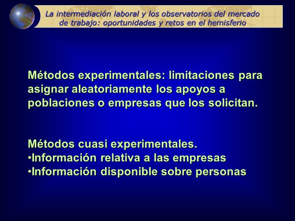 Métodos experimentales: limitaciones para
