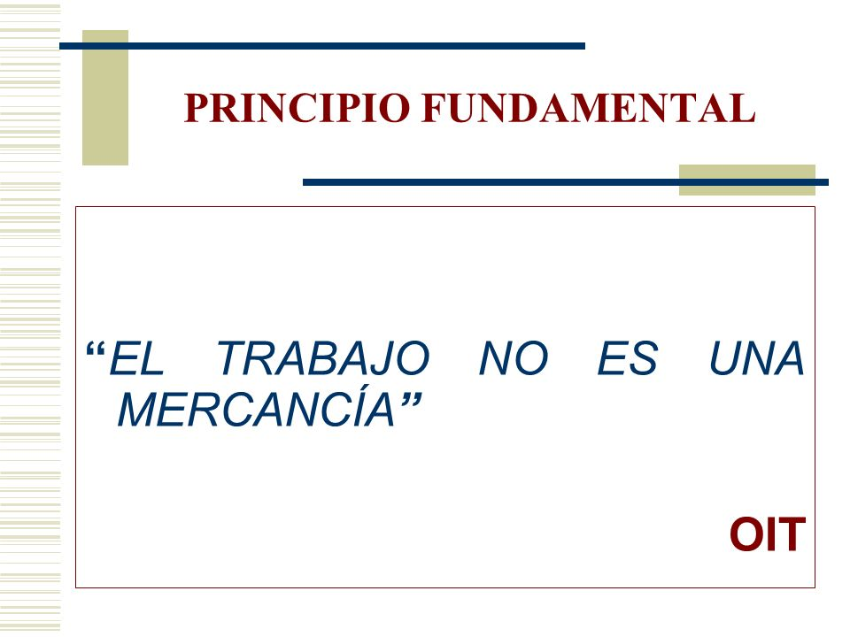 PRINCIPIO FUNDAMENTAL