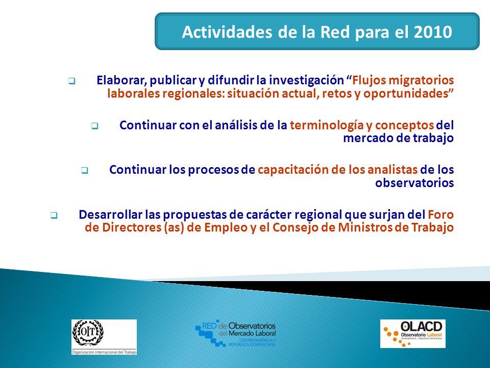 Actividades de la Red para el 2010