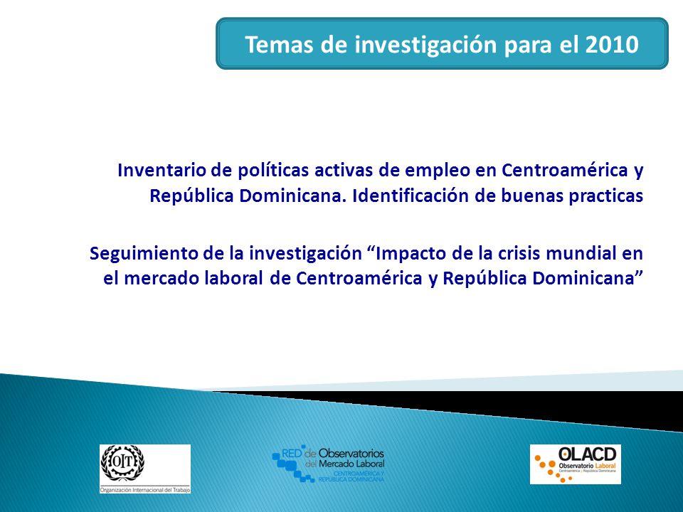Temas de investigación para el 2010