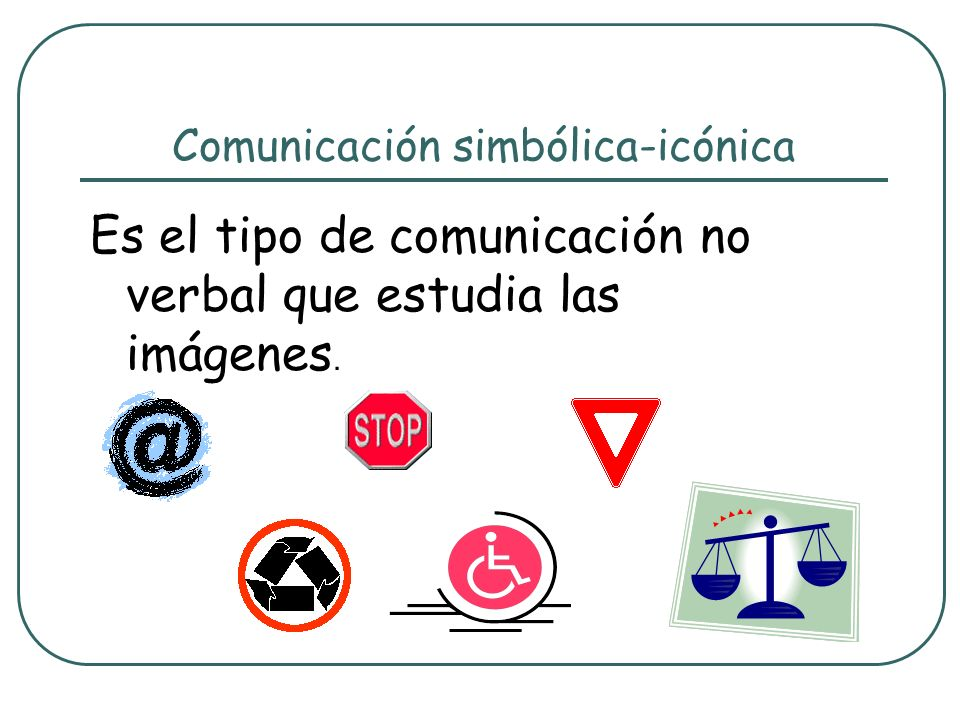 Comunicación simbólica-icónica