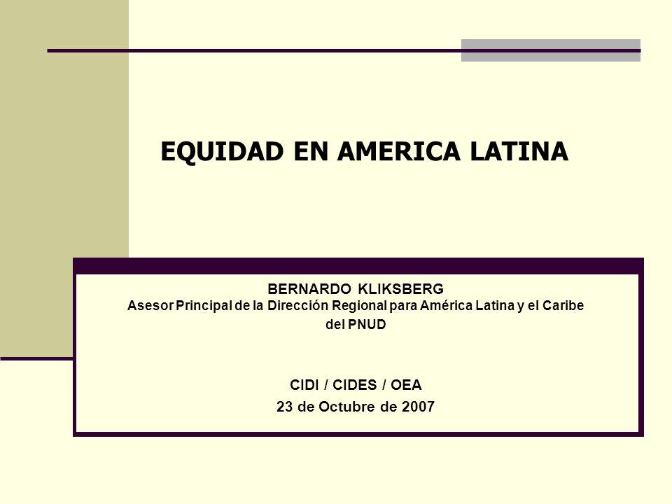EQUIDAD EN AMERICA LATINA