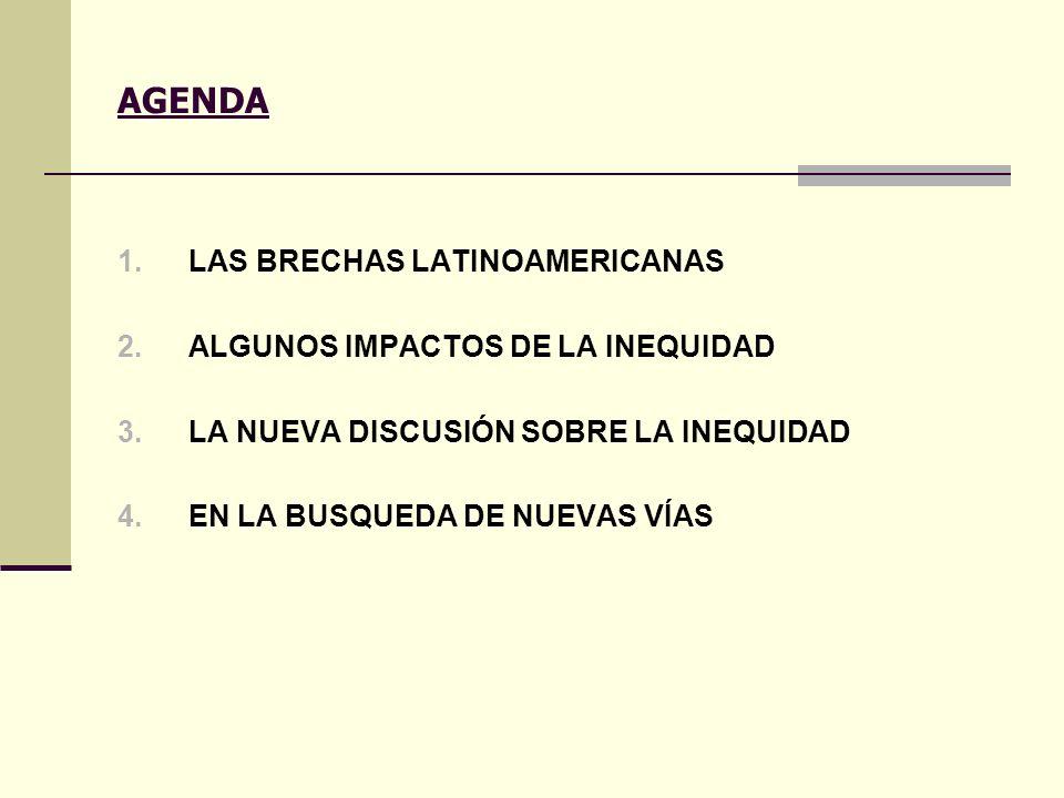 AGENDA LAS BRECHAS LATINOAMERICANAS ALGUNOS IMPACTOS DE LA INEQUIDAD