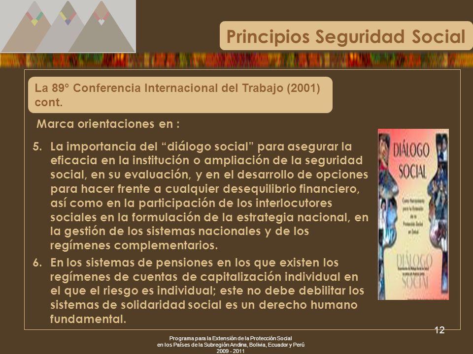 Principios Seguridad Social