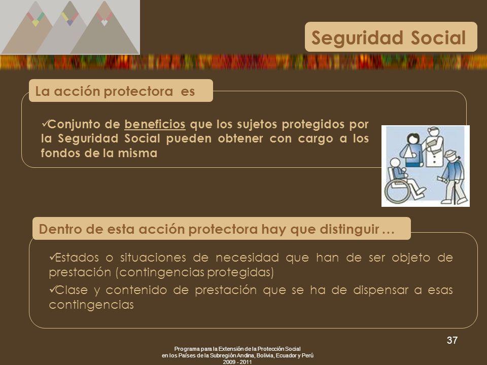 Seguridad Social La acción protectora es