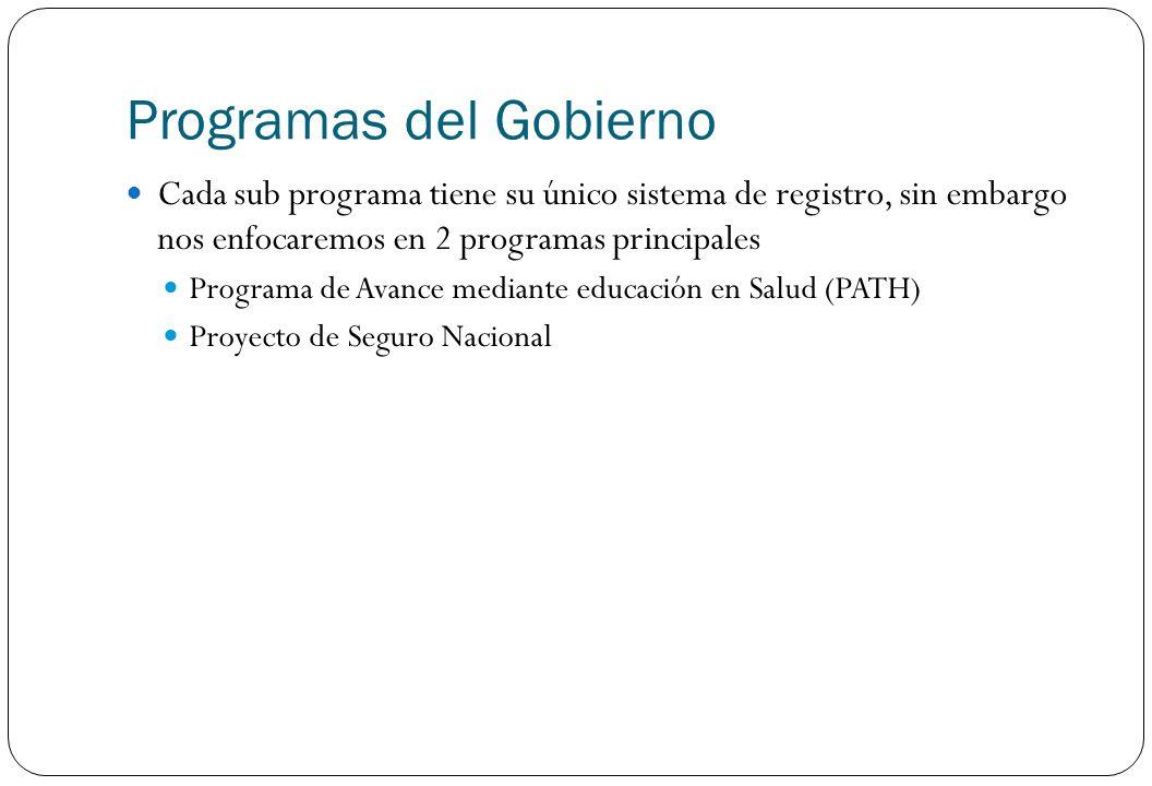 Programas del Gobierno