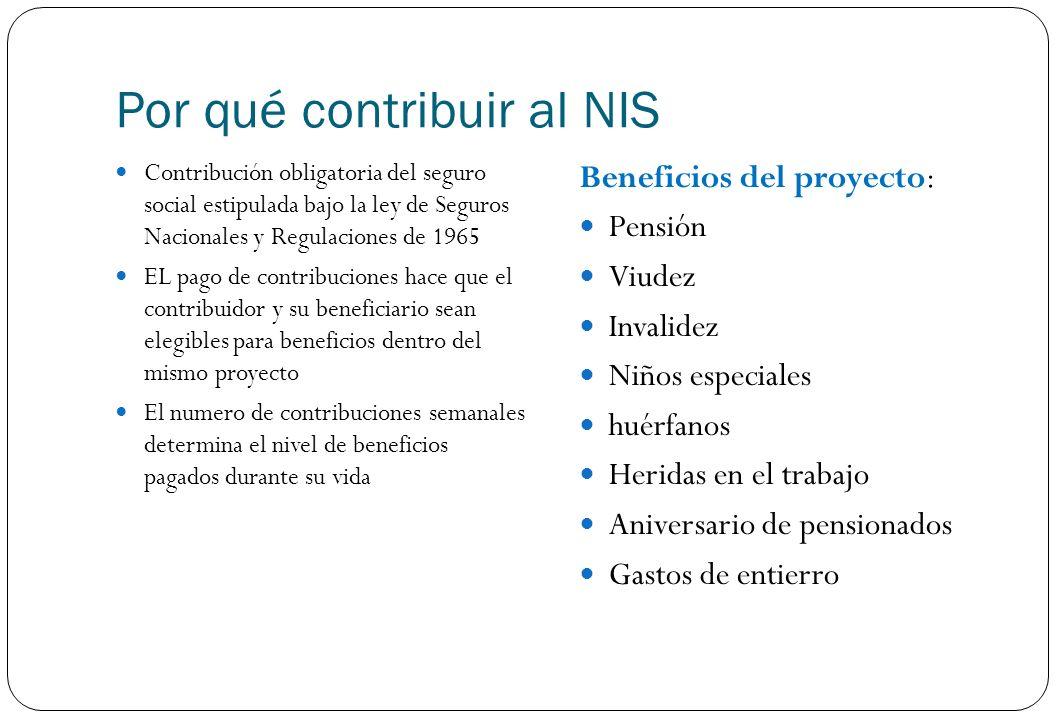 Por qué contribuir al NIS