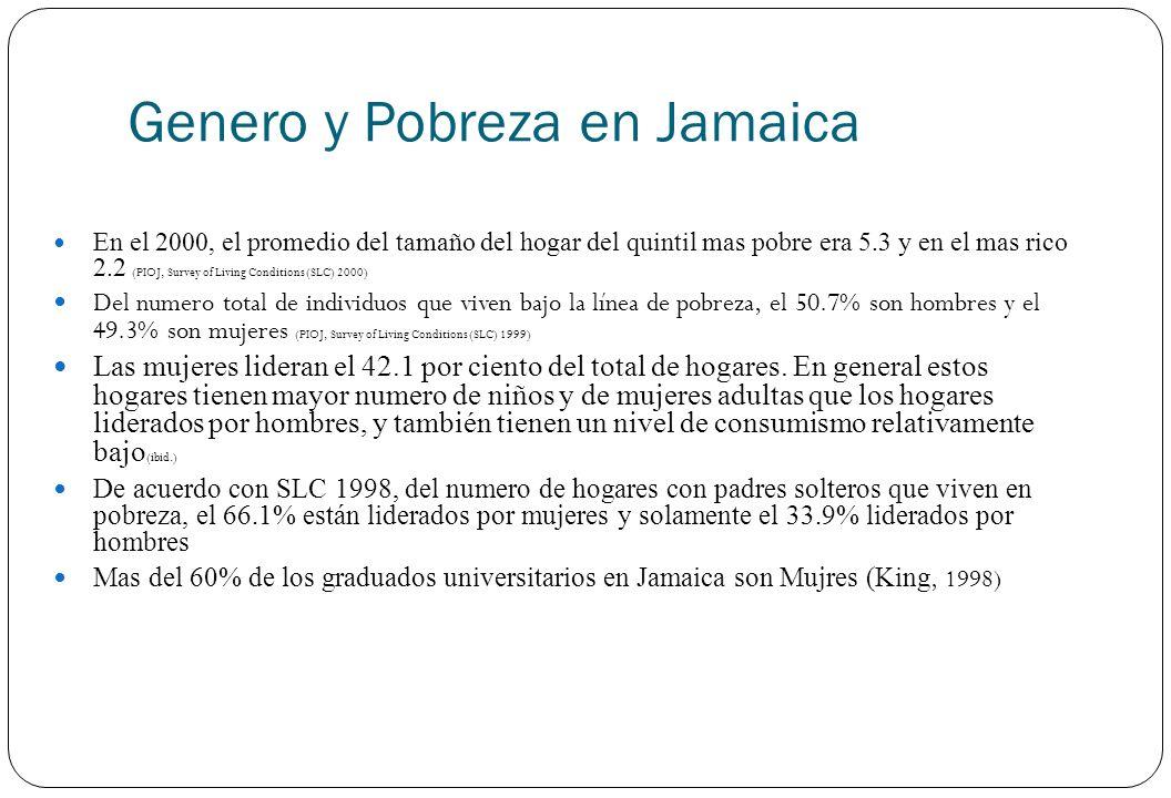 Genero y Pobreza en Jamaica