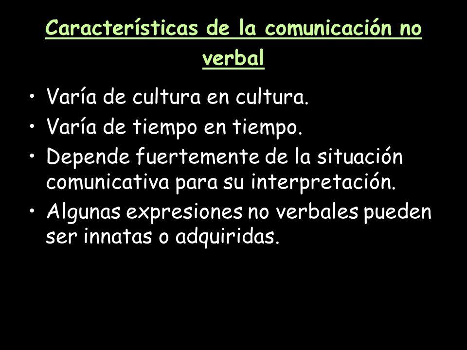 Características de la comunicación no verbal