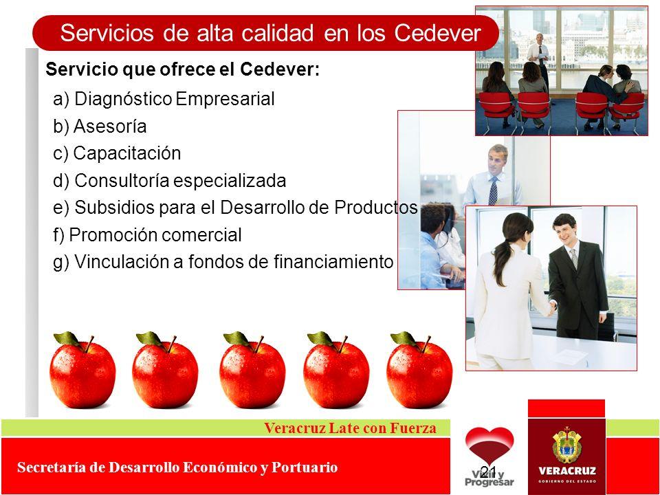 Servicios de alta calidad en los Cedever