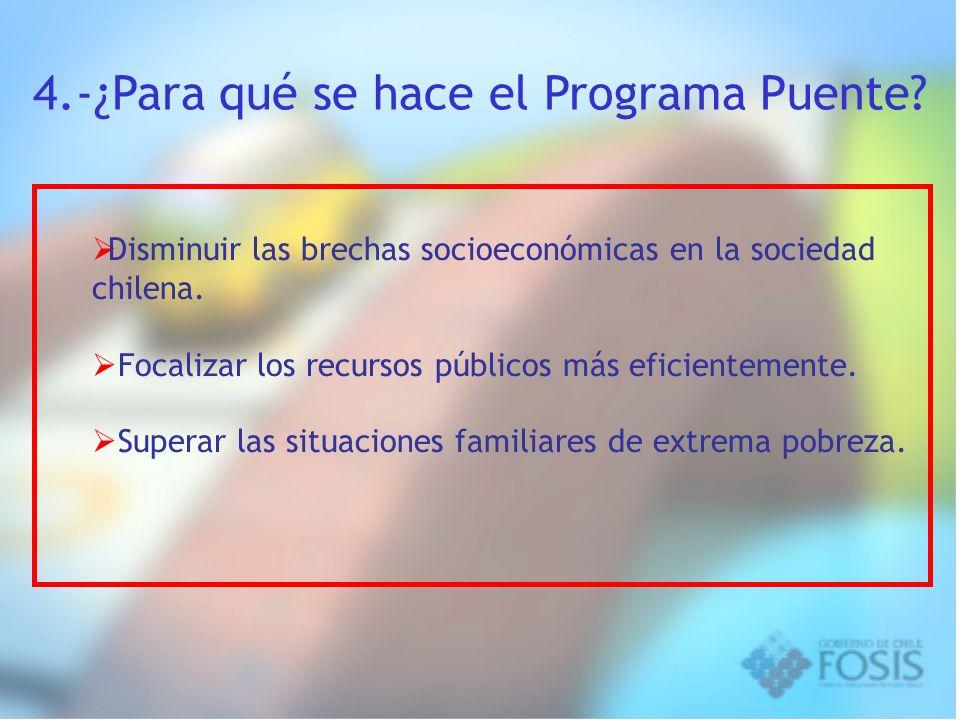 4.-¿Para qué se hace el Programa Puente