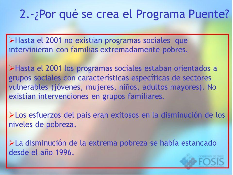 2.-¿Por qué se crea el Programa Puente