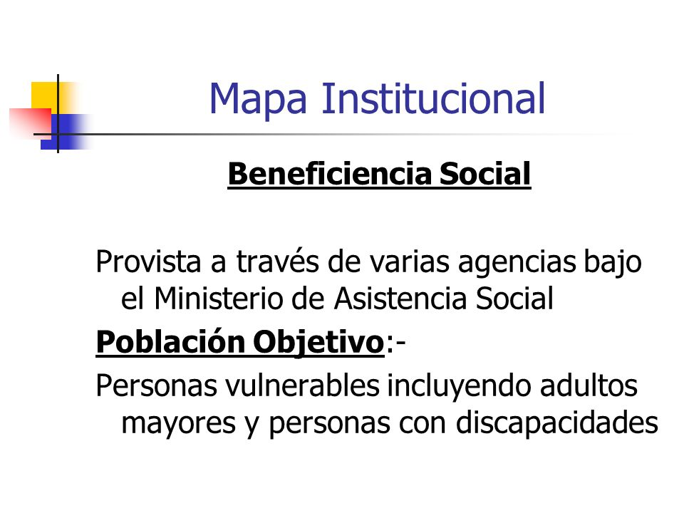Mapa Institucional Beneficiencia Social