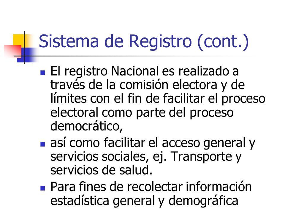 Sistema de Registro (cont.)