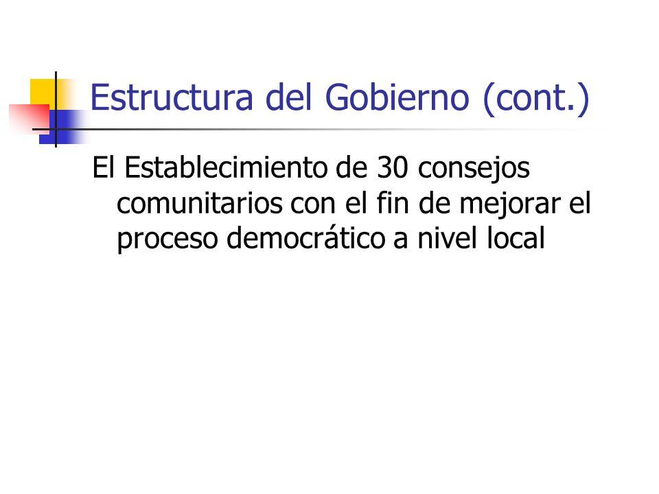 Estructura del Gobierno (cont.)