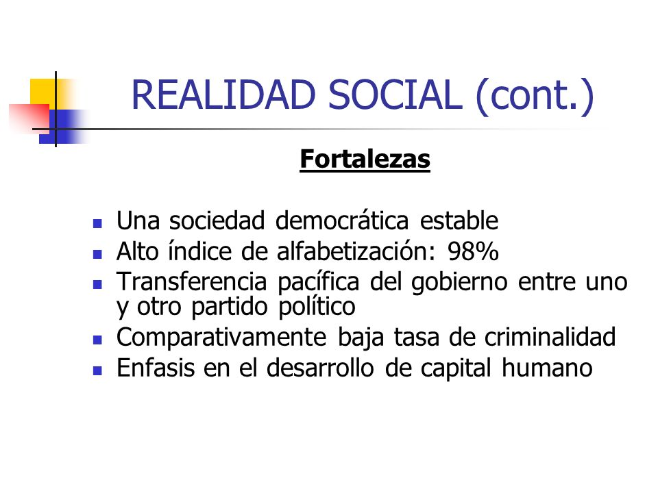 REALIDAD SOCIAL (cont.)