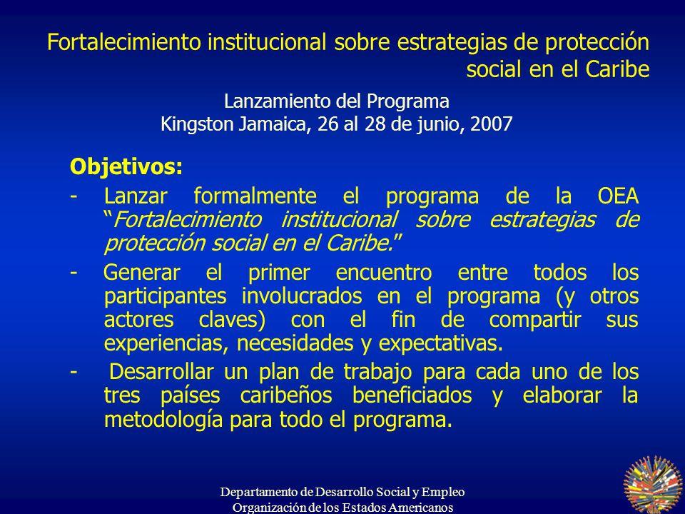 Lanzamiento del Programa Kingston Jamaica, 26 al 28 de junio, 2007