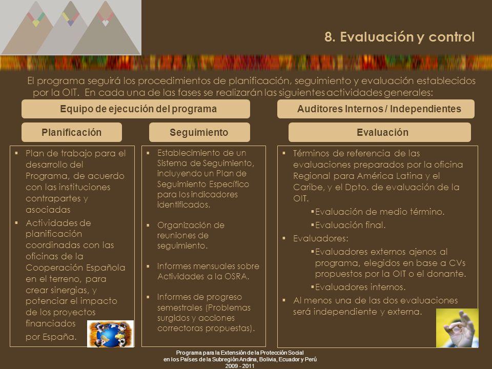 8. Evaluación y control