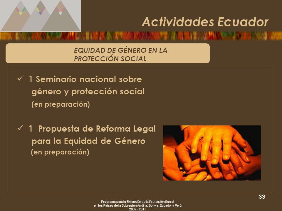 Actividades Ecuador 1 Seminario nacional sobre