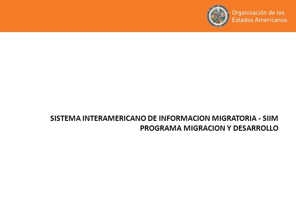 SISTEMA INTERAMERICANO DE INFORMACION MIGRATORIA - SIIM