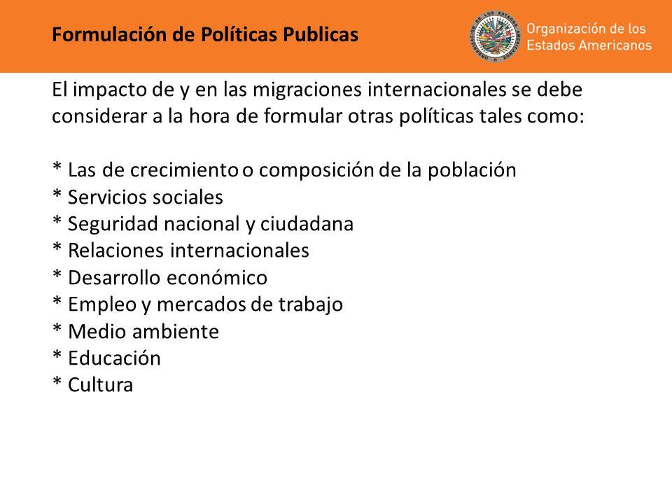 Formulación de Políticas Publicas