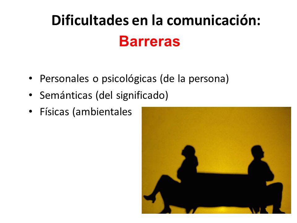 Dificultades en la comunicación: