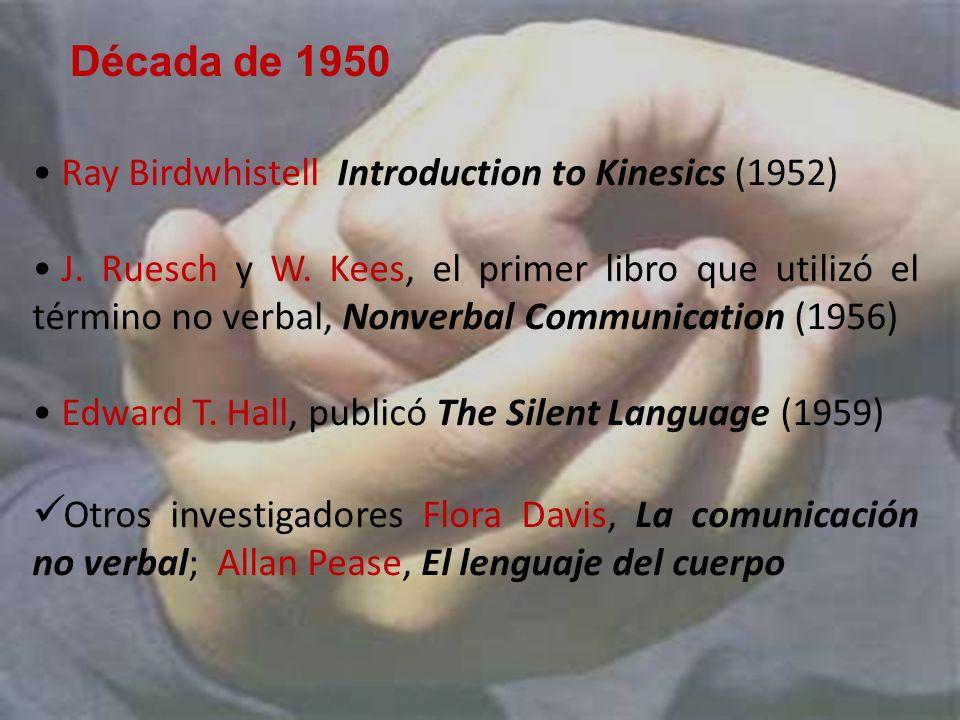 Década de 1950 Ray Birdwhistell Introduction to Kinesics (1952)