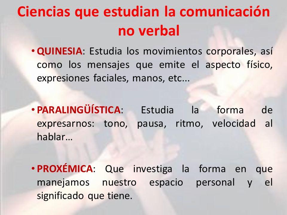 Ciencias que estudian la comunicación no verbal