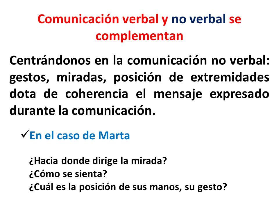 Comunicación verbal y no verbal se complementan