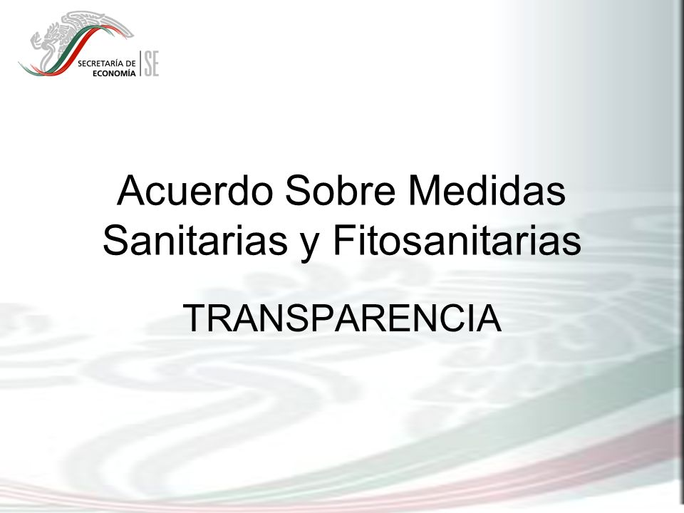 Acuerdo Sobre Medidas Sanitarias y Fitosanitarias