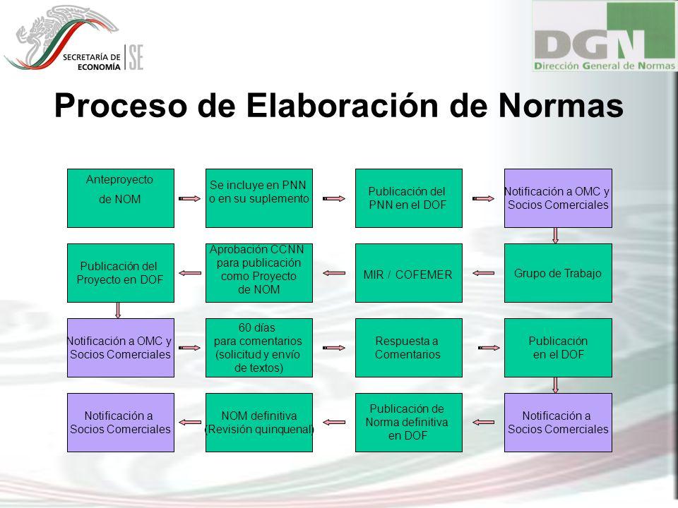 Proceso de Elaboración de Normas