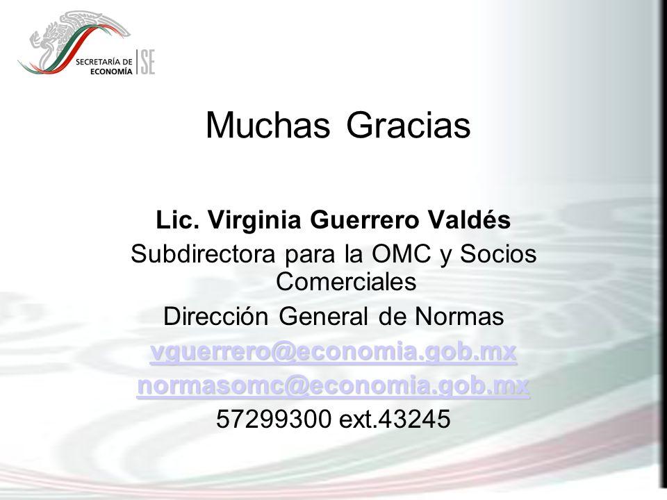 Lic. Virginia Guerrero Valdés