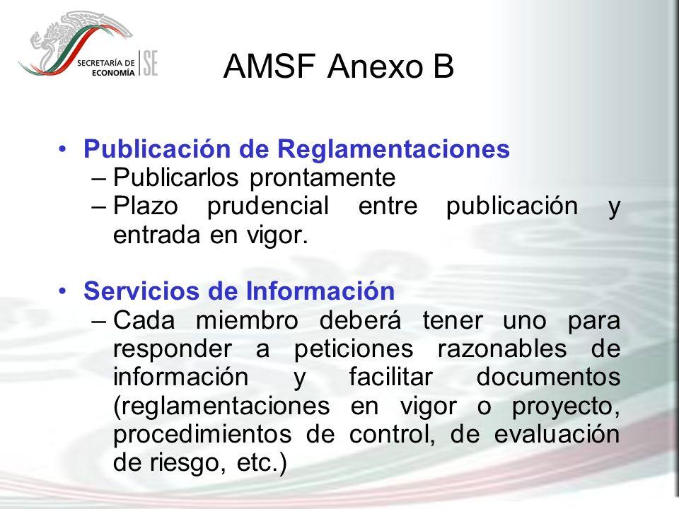AMSF Anexo B Publicación de Reglamentaciones Publicarlos prontamente