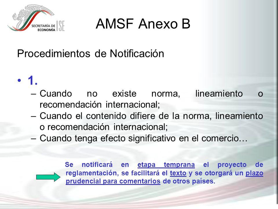 AMSF Anexo B 1. Procedimientos de Notificación
