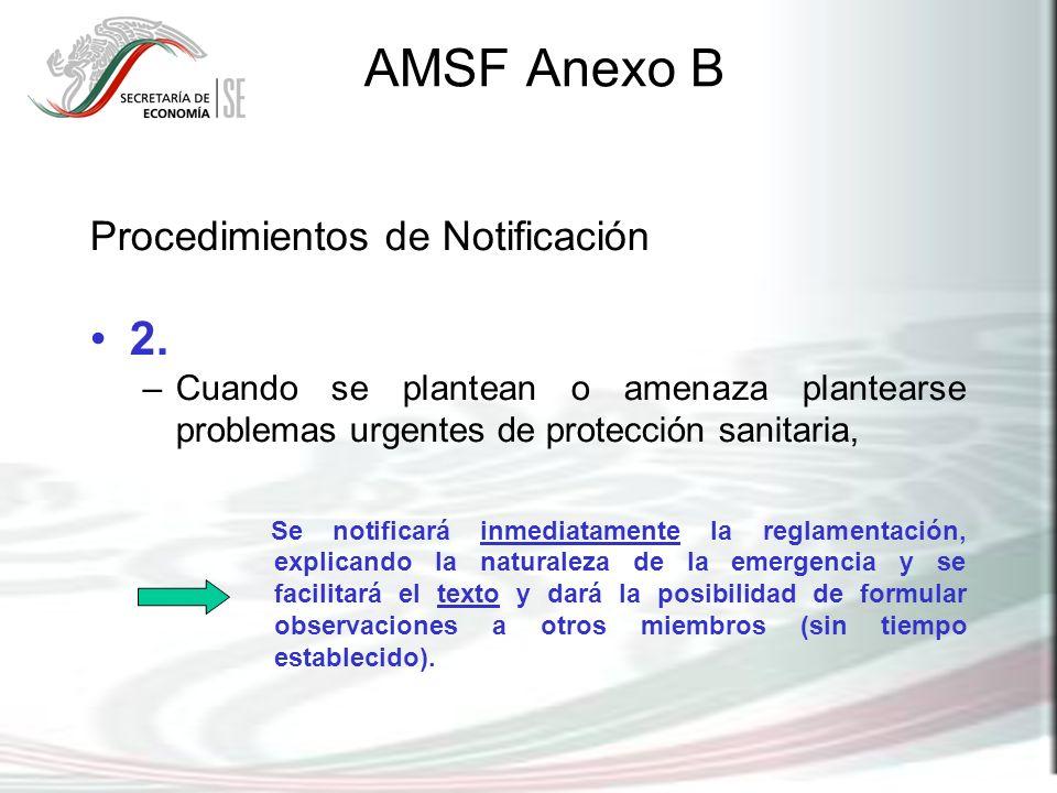 AMSF Anexo B 2. Procedimientos de Notificación