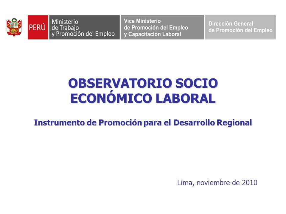 OBSERVATORIO SOCIO ECONÓMICO LABORAL