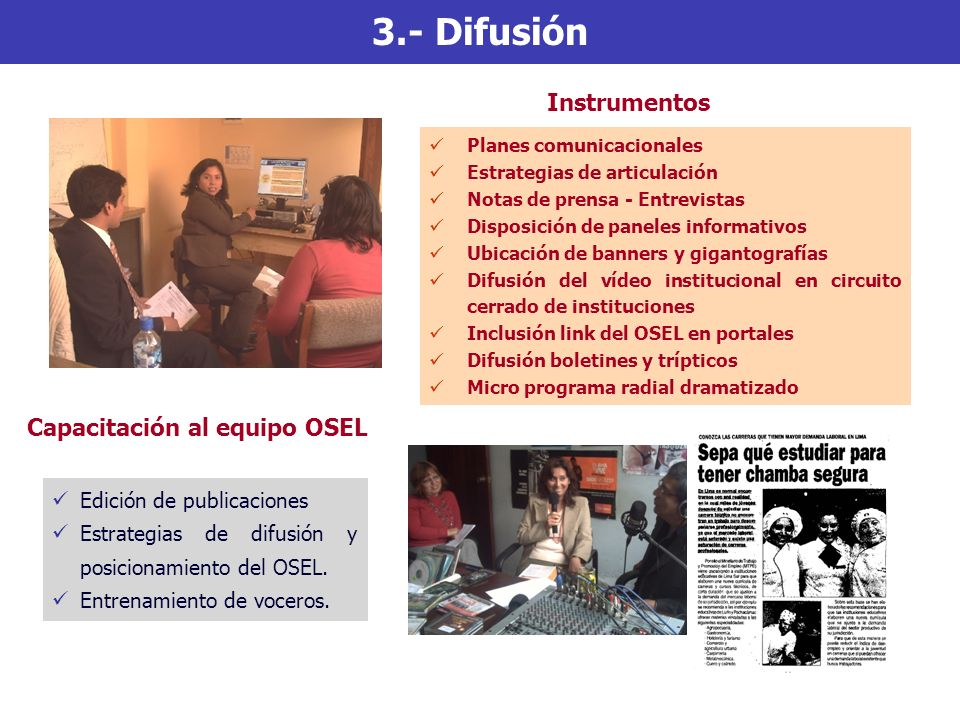 Capacitación al equipo OSEL