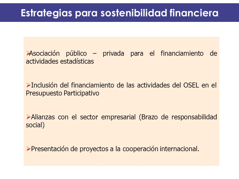 Estrategias para sostenibilidad financiera