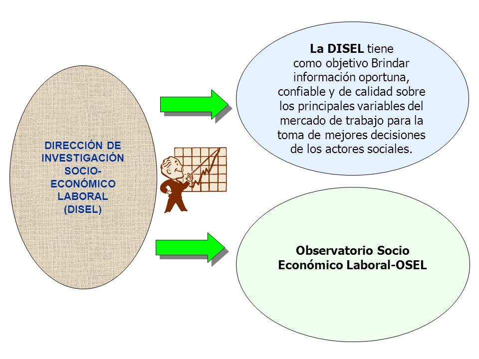 Observatorio Socio Económico Laboral-OSEL