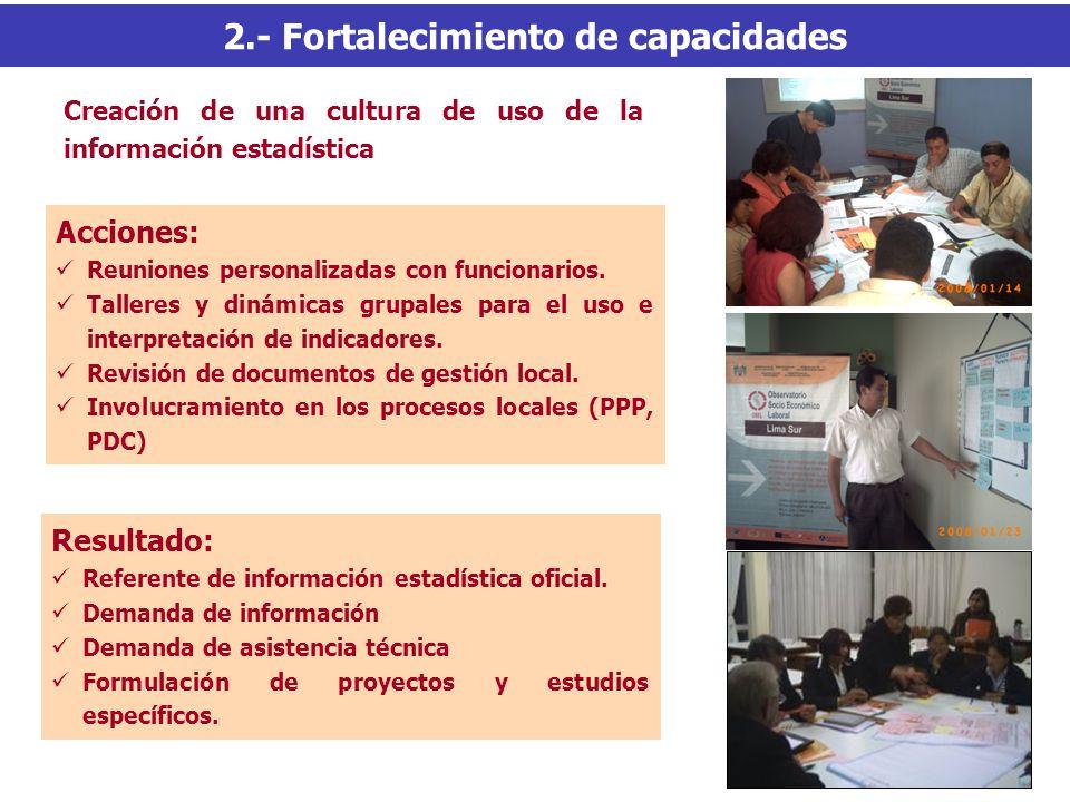 2.- Fortalecimiento de capacidades