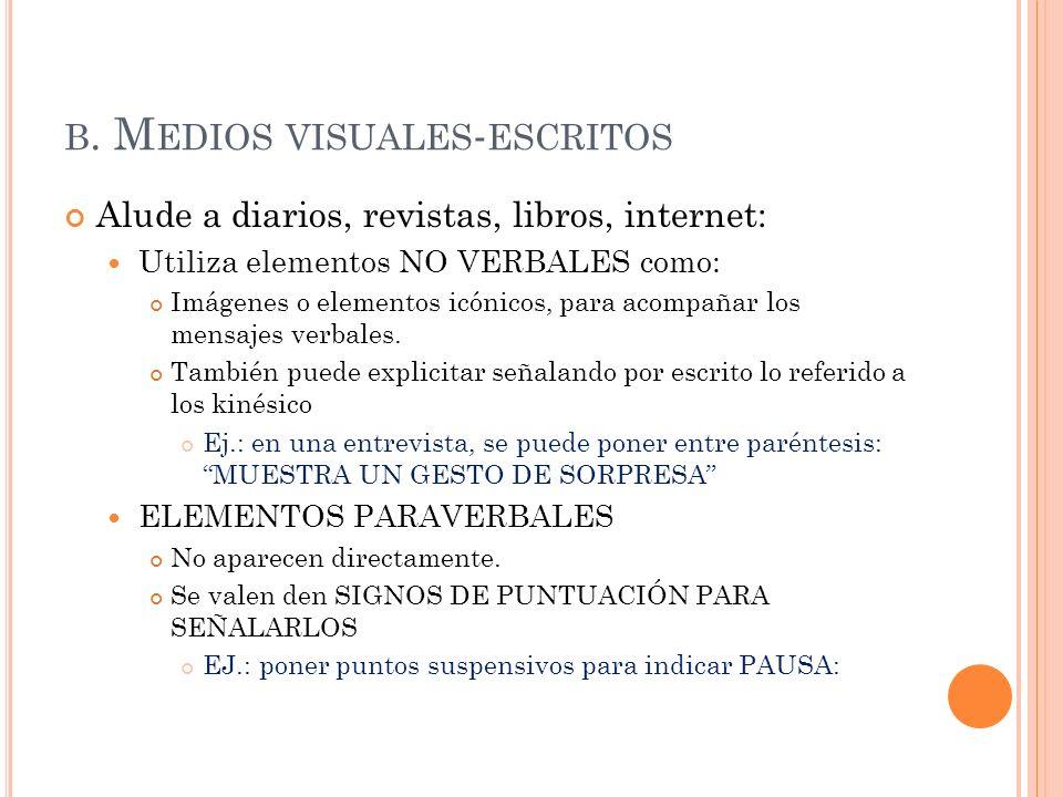 b. Medios visuales-escritos