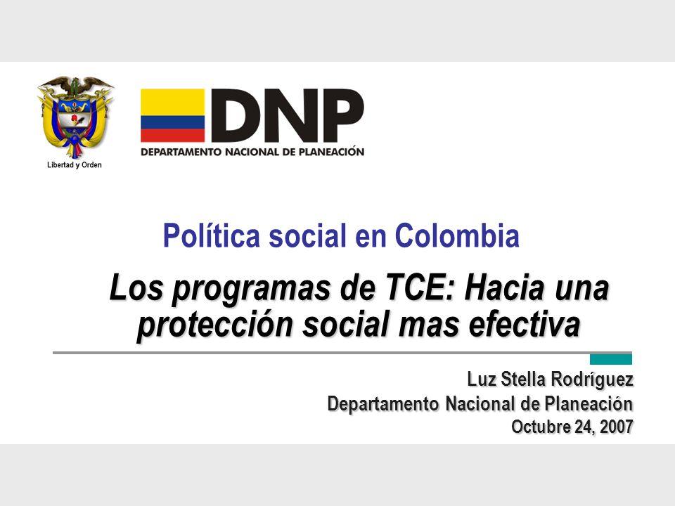 Los programas de TCE: Hacia una protección social mas efectiva