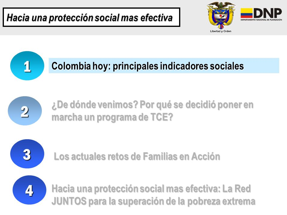 1 2 3 4 Hacia una protección social mas efectiva